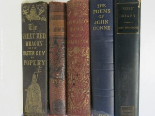 "Collection of books including: ""The Great Red Dragon""; or;""The Master-Key to Popery"""