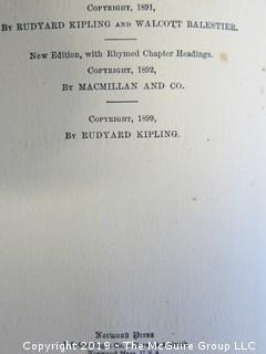 "(5) Books by Rudyard Kipling: ""The Naulahka: A Story of West and East""; ""Rewards and Fairies""; ""Stalky & Co.""; ""The Five Nations""; ""Actions and Reactions""."