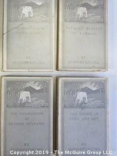 "(4) Books by Rudyard Kipling: ""The Drums of Fore and Aft""; ""Without Benefit of Clergy""; ""The Courting of Dinah Shadd"" and ""The Incarnation of Krishna Mulvaney"""