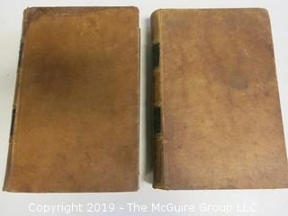 """(2) Leather Bound Volumes:  """"Ancient History of the Egyptians, Carthaginians, Assyrians, Babylonians,  Meds and Persians, Grecians and Macedonians"""" by Charles Rollin, published by Applegate and Co., Cincinnati, 1860"""
