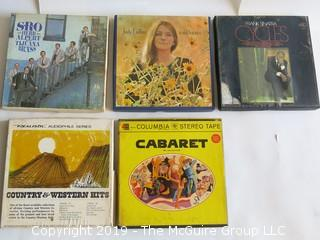 "(5) Pre-Recorded 7"" Reel to Reel Tapes"
