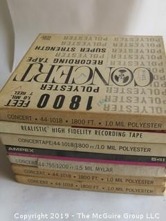"(12) 7"" Reel to Reel Tapes; Recorded On"