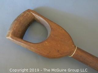 "One Piece Wood Carved Coffee Bean Shovel; 13""W x 45""T; (Description Altered 6.11 @ 5:10pm ET)"