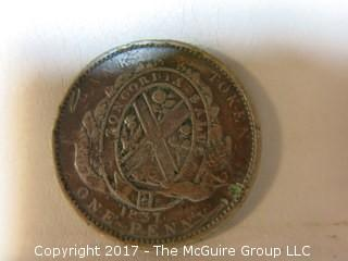1837 penny; Bank of Lower Canada
