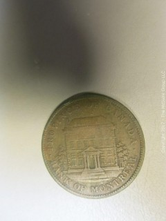 1842 Bank of Montreal Penny Token