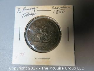 1850 Bank of Canada Half-Penny Token