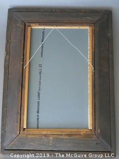"Antique Ogee Framed Wall Mirror; 18 1/2 x 25"" (outside diameter)"