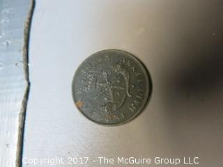 1854 Upper Canada half-penny bank token