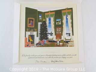Bill and Hillary Clinton signed Christmas Card