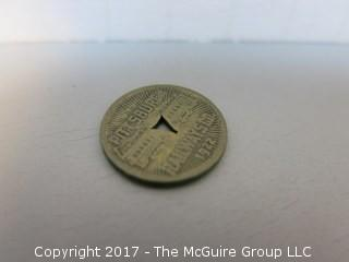 Collection of 48 U.S. Transit Tokens: Trains, Streetcars, City Buses, Underground Trains, Metro and Ferries