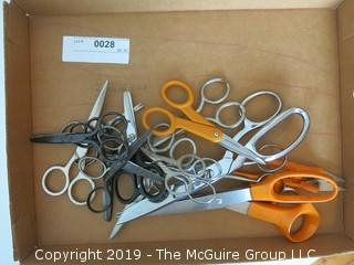 Collection of craft and sewing scissors