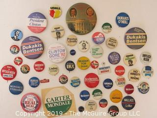 Collection of political campaign buttons  - believed to be originals