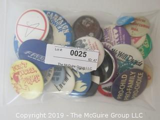 Collection of Political Movement Buttons - all believed to be original