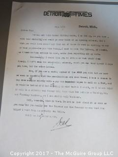 Collection of Correspondence; 1920's - 1980