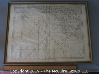 1775 Framed Antique Map of Costa Rica and Nicaurauga with the Lagunas; Thomas Jeffreys; Geographer to his Majesty; printed for Robert Sayer, map and printseller, London