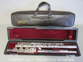 Jupiter Flute   Model: SFL-611RB with Sterling head Skill Level: Intermediate Flute in padded case with carry bag