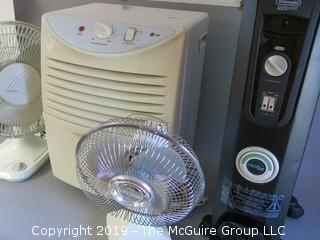 Dehumidifier, Heater and 2 Fans