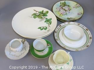 Collection of China including Knowles plates, Royal Rudolstadt, hand painted Nippon and Belleek