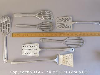 Collection of Aluminum Spatulas