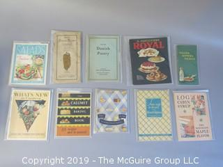 Collection of Vintage Food Brand Recipe Pamphlets