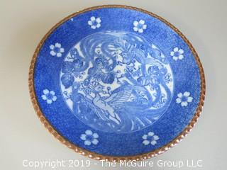 Hand Painted Blue and White Chinese Plate