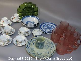 Collection of glass and ceramic serving-ware