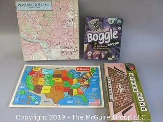 Collection of puzzles and board games