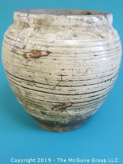 Chinese Shang Dynasty (1766 - 1122 BC) Pottery Vase (this item has been assembled so that bidders can see that it is all there, but needs restoration)
