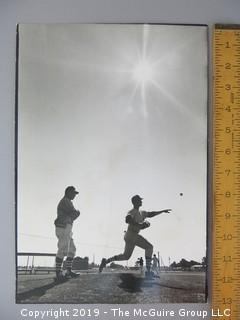 Ed Stanky, 1966 Manager of the Chicago White Sox, observing new pitcher.  Part of Life Magazine story on Leo Durocher by noted photographer Arthur Rickerby
