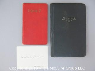 2 pocket sized diaries of Joseph Alsop, noted journalist.  Book 1 details his 1949 Studebaker; Book 2 is a 1947 appointment calendar