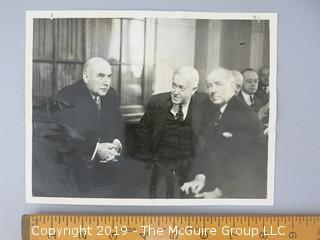 1913 Black and White Photo of J.P. Morgan with Counsel; prior to testifying on Capitol Hill