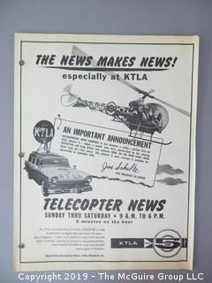 """Telecopter News"" on KTLA, Los Angelos"