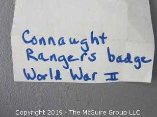 WW II Connaught Rangers Badge