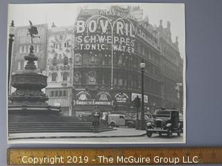 Large Format Black and White Photo of central London in 1930's