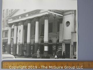 Large Format B + W Photoo of London's Royal Haymarket Theatre