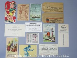 Collection of Ephemera including Valentine
