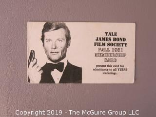 Collection of Ephemera including the Yale James Bond Film Society card