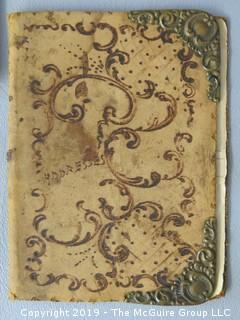 Collection including vintage leather embossed address book