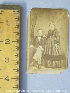 Vintage CDV with tax stamp affixed