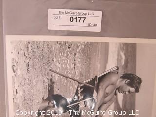 (2) Large Format B + W South Carolina Beach Photos; 1981