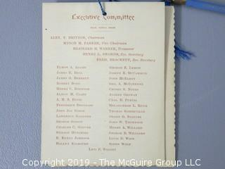 U.S. President Grover Cleveland's Inaugural Ball Program, March 4,1889; New Pension Building, Washington DC