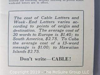 Western Union's Cable Code Pamphlet