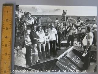 1981 Large Format B + W Photo of Airboat Wedding; Florida Everglades.