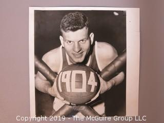Collection of Large Format B + W Sports Photos including Frank Selvy, Jack Sanford and Vic Raschi