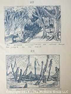 """Impressions of a Pegleg: Pen and Ink Sketches"" by Pfc. William De J Rutherfoord, 90th F.A. Battalion"