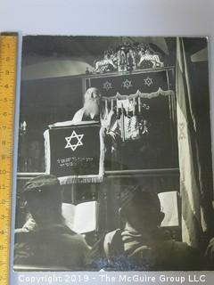 Large Format B + W Photo of Rabbi