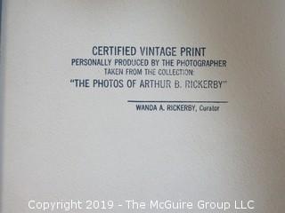 Large Format B + W Photo of Arthur Rickerby
