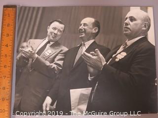 UPI Large Format B + W Press Photo (Adlai Stevenson in middle)