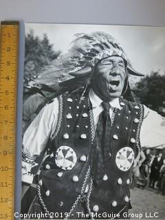 Large Format B + W Photo of Native American Chief