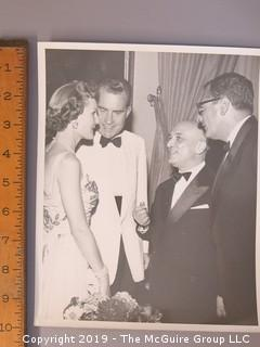 Large Format B + W Photo of Richard and Pat Nixon